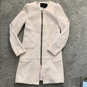 New H&M dusty pink zip up jacket/coat